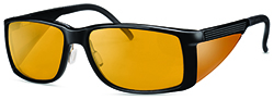WellnessPROTECT Eyewear - Large Black Frame
