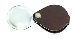 Classic Folding Pocket Magnifier - Brown