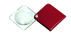 Classic Folding Pocket Magnifier - Maroon