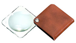 Classic Folding Pocket Magnifier - Tan