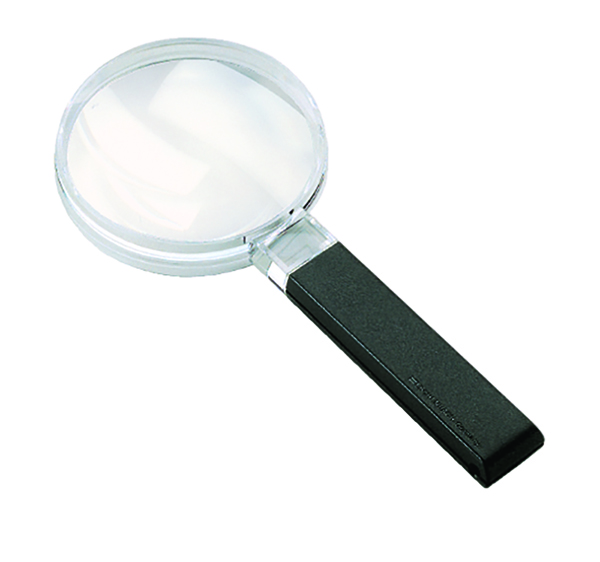 Large Field Biconvex Hand-held Magnifier - 2.5x