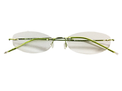 Rimless Reading Glasses - Oval - Green