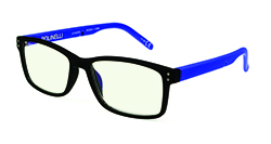 Polinelli Reader - Blue/Black Plano